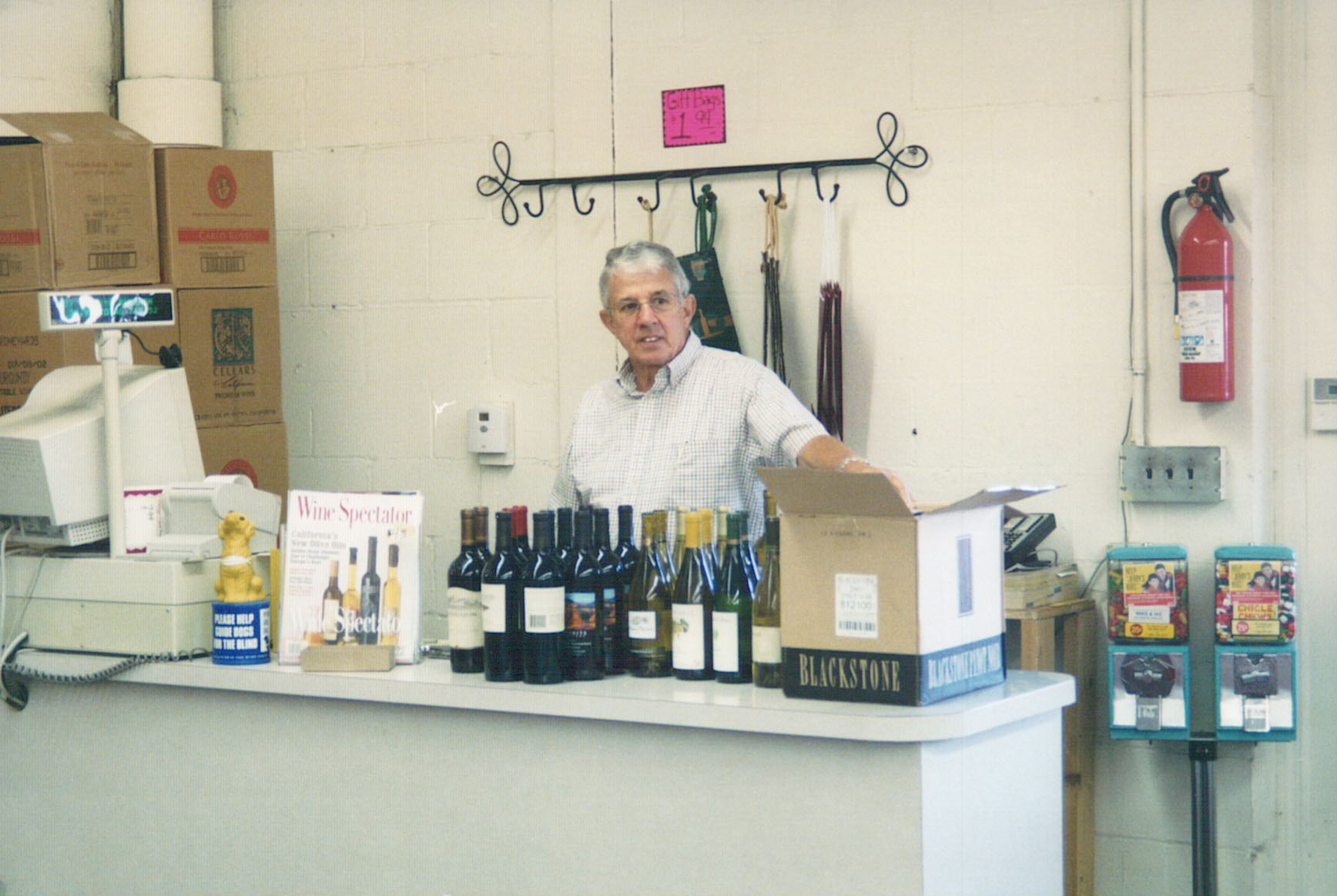 Bud Bremer, moving into the 4460 Commercia Drive store location, circa 1999