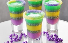 Mardi Gras King Cake Jelly Shots