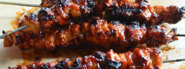 Bacon Bourbon Barbecue Chicken Kebabs