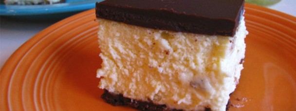 Orangecello Chocolate Cheesecake Squares