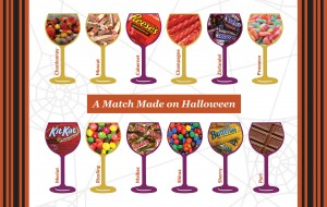 candy and wine pairing