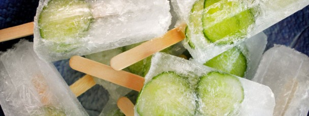 Cucumber Gin and Tonic Popsicles