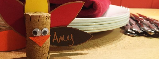 Turkey Wine Cork Name Cards