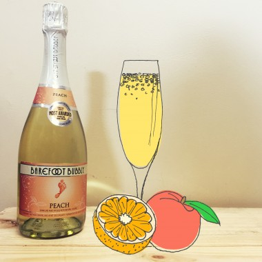 bremers brunch peach fuzzy navel mimosa