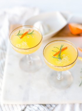 clementine and rosemary mimosas