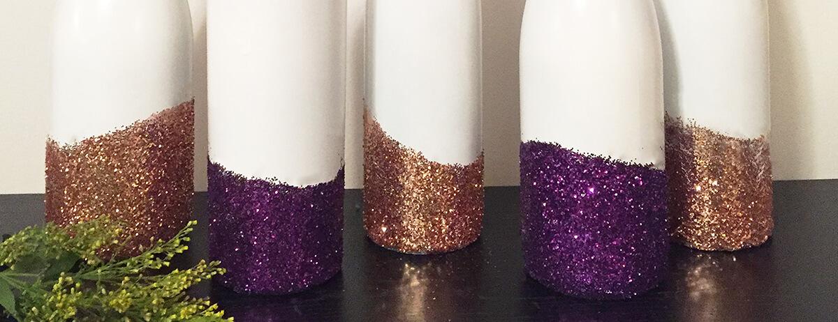 Glitter Wine Bottle Vases Bremers Wine And Liquor