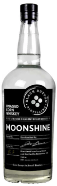 Black Button Distilling Unaged Corn Whiskey Moonshine