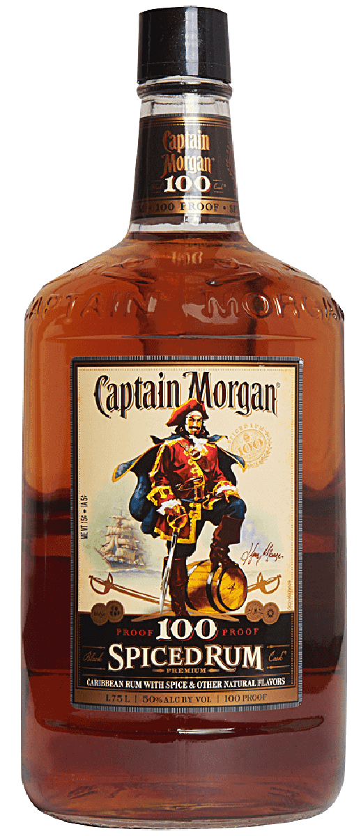 Captain Morgan 100 Proof Spiced Rum 175l