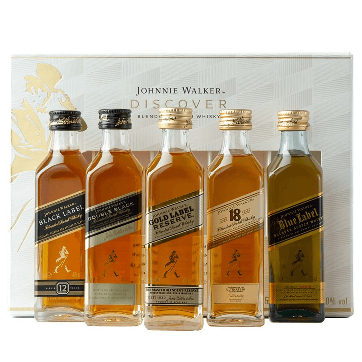 Johnnie Walker Collection 5 pack (50ml